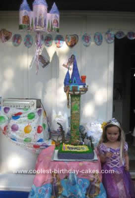 Tangled Birthday Cake on Coolest Rapunzel Tangled Tower Birthday Cake 14