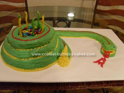 Homemade Rattle Snake Cake
