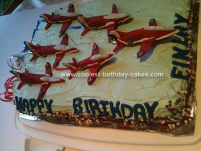 Homemade Red Arrows Cake