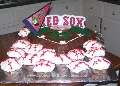 Homemade Red Sox Cake
