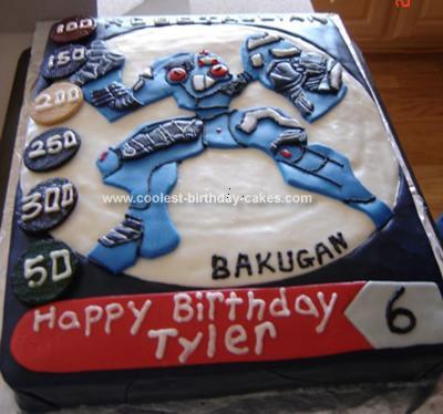 Homemade Robotalian Bakugan Cake