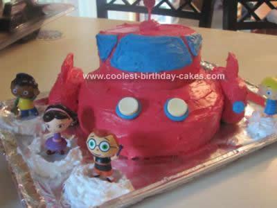 Homemade Rocket Cake Design
