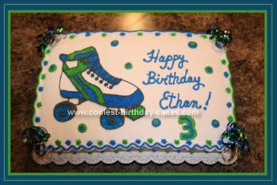Coolest Roller Skate Birthday Cakes