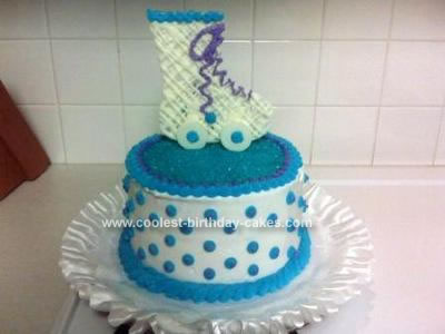 Homemade Roller Skate Birthday Cake