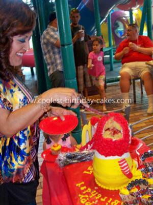 Homemade Ronald McDonald Birthday Cake