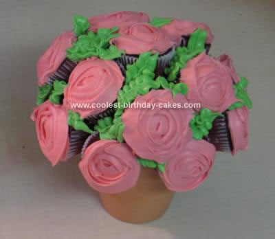Homemade  Rose Bouquet Cake