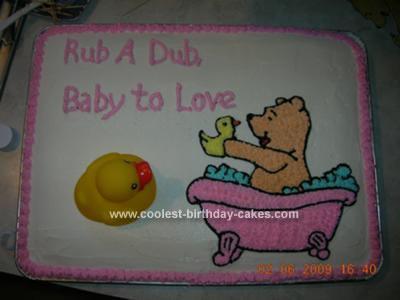 Homemade Rubber Ducky Baby Shower Cake