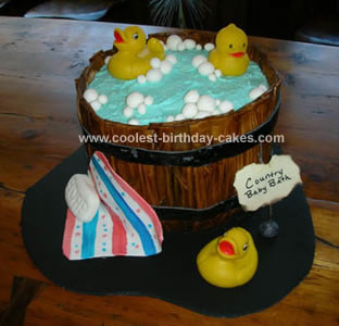 Homemade  Baby Bath Rubber Ducky Cake