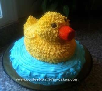 Homemade Rubber Ducky Cake