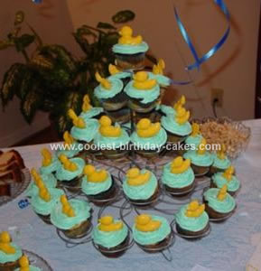 Homemade Rubber Ducky Cupcakes