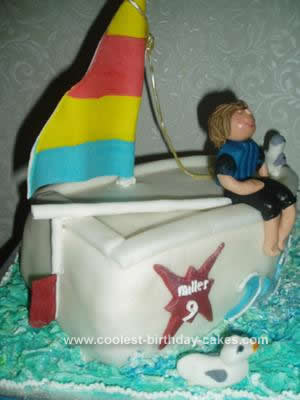 Homemade Sailing Ship Birthday Cake