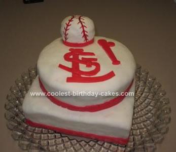 Homemade Saint Louis Cardinal Fan Cake