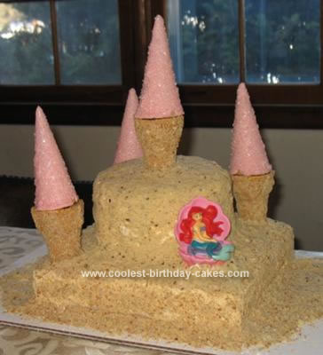 Homemade Sandcastle Birthday Cake
