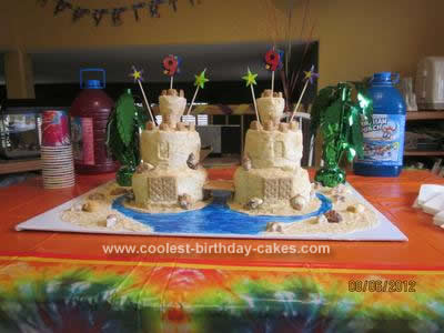 Homemade Sandcastle Cake