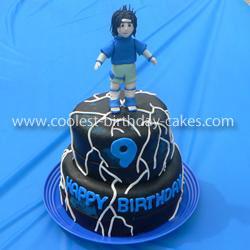 Coolest Sasuke from Naruto Birthday Cake