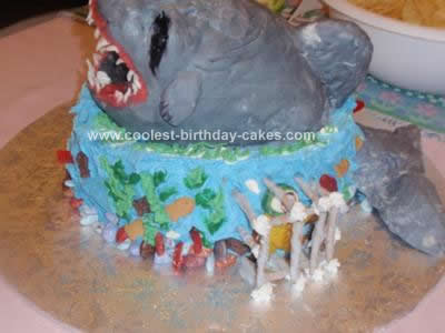 Coolest Scary Shark Birthday Cake 47