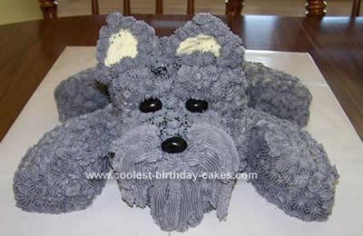 Homemade Schnauzer Birthday Cake