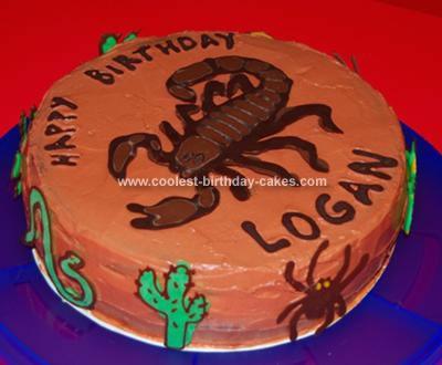 Homemade Scorpion Cake