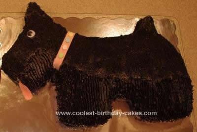Homemade Scottie Dog Cake Design