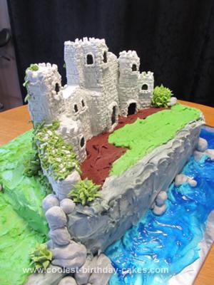 Homemade Scottish Castle 40th Birthday Cake