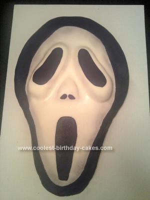 Homemade Scream Mask Cake