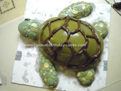 Homemade Sea Turtle Cake Idea
