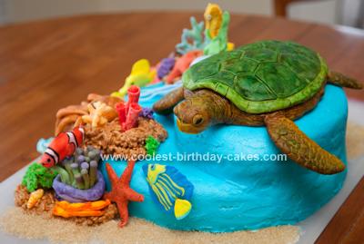Homemade Sea Turtle Reef Cake