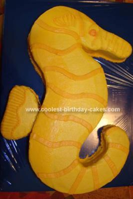 Homemade Seahorse Cake