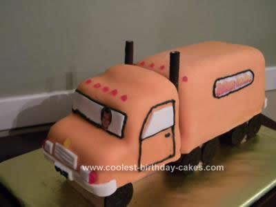 Coolest Semi Truck Birthday Cake Design 17