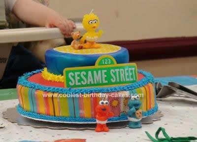 Sesame Street Birthday Cakes on Coolest Sesame Street Birthday Cake Design 39