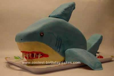 Homemade Shark Birthday Cake Idea