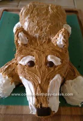 Homemade Shiba Inu Dog Cake