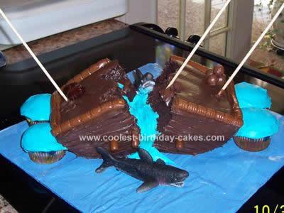Homemade Shipwrecked Birthday Cake