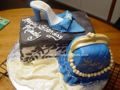 Shoes Theme Birthday Cake, homemade cake