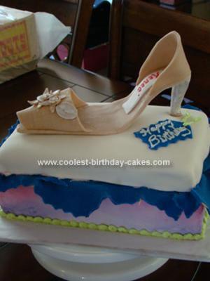 Homemade Shoe Cake
