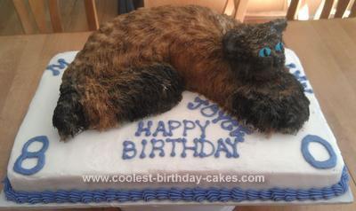 Homemade Siamese Cat Cake
