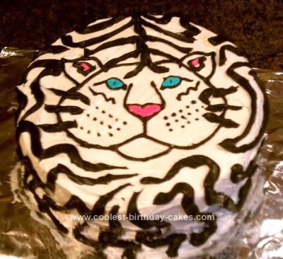 Homemade Siberian Tiger Ice Cream Cake