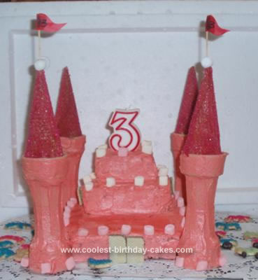 Homeade Simple Castle Cake