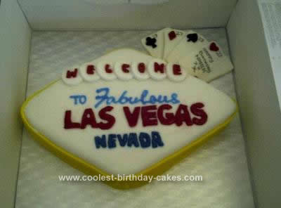 Homemade Sin City Vegas Cake