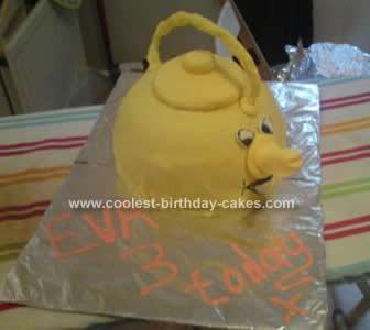 Homemade Singing Kettle Birthday Cake