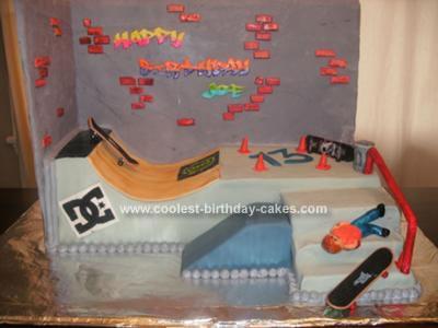 Homemade Birthday Cakes on Homemade Skatepark Cake