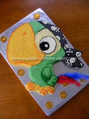 Coolest Skully the Parrot Birthday Cake
