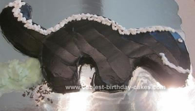 Homemade Skunk Cake