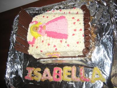 Homemade Sleeping Beauty Birthday Cake