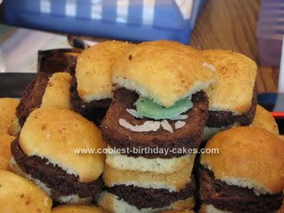 Homemade Sliders Burger Cake Design
