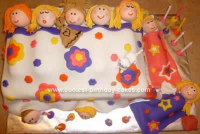 Homemade Slumber Party Birthday Cake