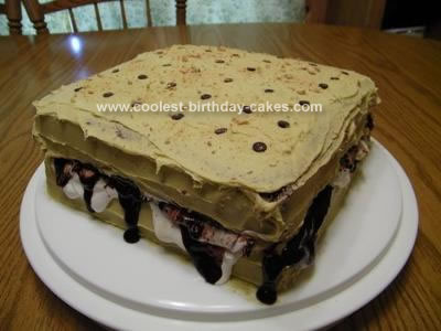 Homemade  S'mores Cake