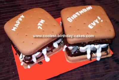 Homemade S'mores Cake Design