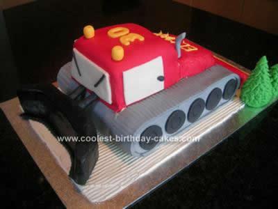 Homemade Snowcat Cake
