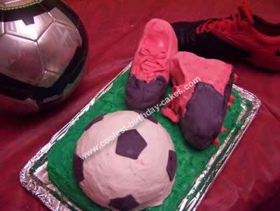 Homemade Soccer Birthday Cake Design
